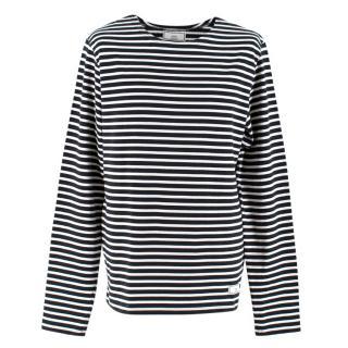 Ami Black & White Striped Sweatshirt