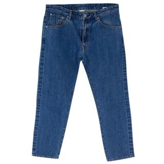 Anglo-Italian Blue-washed Straight-leg Denim Jeans