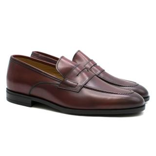 Harrys of London Burgundy Leather Loafers