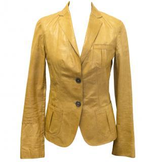 Boss camel leather jacket