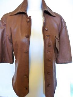 Brian Clarke Mens Soft Nappa Leather Jacket. Leather Buttons. Handmade