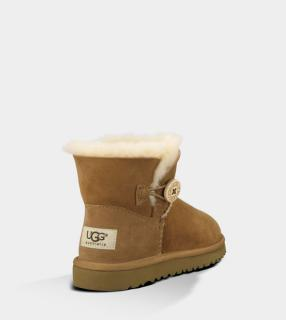 UGG Australia Mini Bailey Button Toddler 1000787 Chestnut UK11 US12 EU29