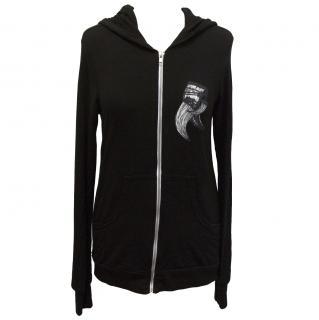 Lauren Moshi black candy horns fitted zip up hoodie