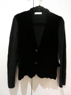 Nicole Farhi black cashmere and silk cardigan Size M