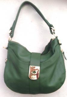 Jaeger green shoulder bag