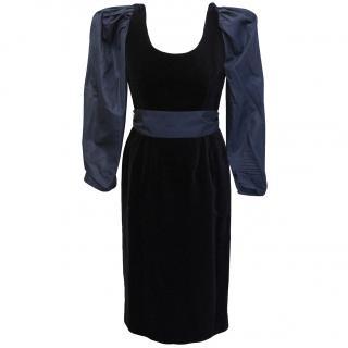 Guy Laroche silk and velvet dress