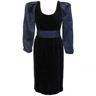 Guy Laroche silk and velvet dress