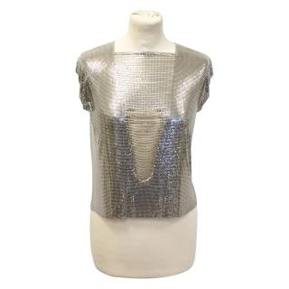 Paco Rabanne vintage silver tank top