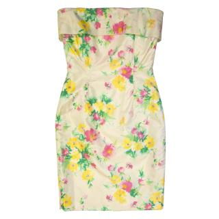 Edina Ronay floral bustier dress