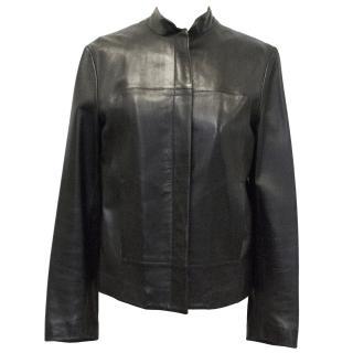 Hussein Chalayan black biker jacket
