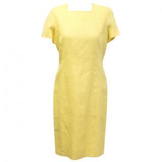 Pierre Balmain yellow vintage shift dress