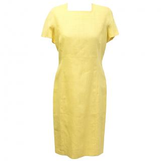 Pierre Balmain yellow vintage shift dress