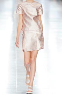 New Christopher Kane pleated metallic skirt