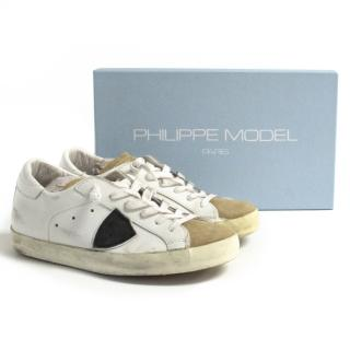 New Philippe model distressed low top sneakers