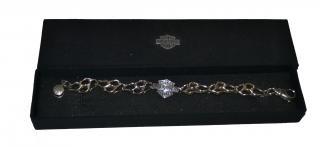 Harley Davidson silver bracelet/chain
