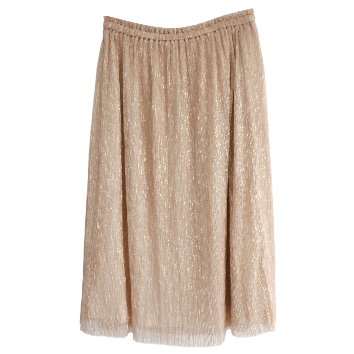 Bellerose Semi Sheer Gold Lurex Skirt