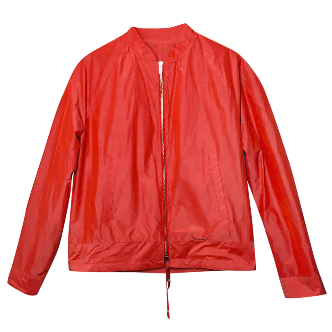 Balenciaga red bomber jacket