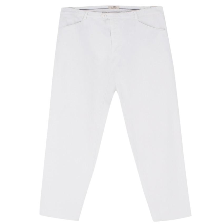 100% Capri White Straight Fit Jeans
