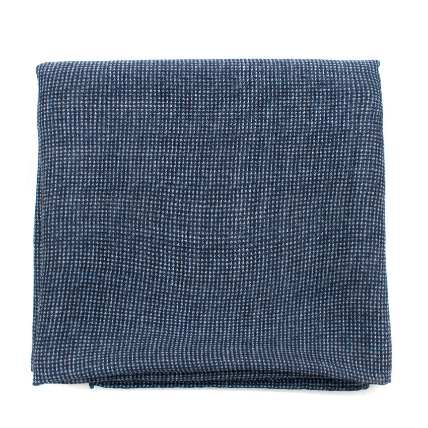 Anderson Sheppard Navy Wool & Silk-blend Scarf