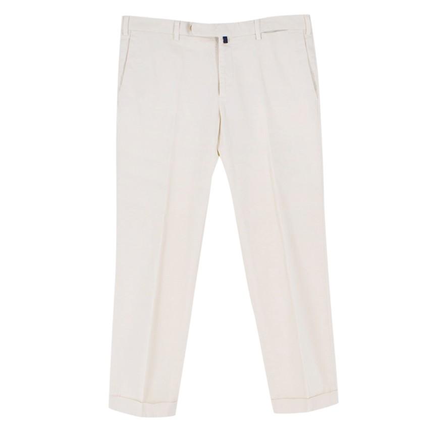 Incotex Cream Cotton Chino Trousers