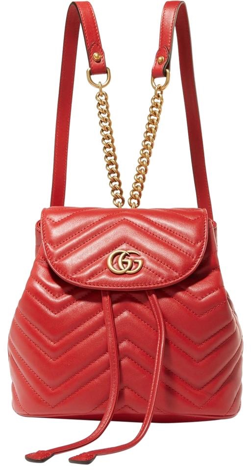 Gucci Red Marmont Backpack