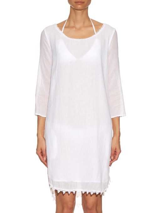 Velvet by Graham & Spencer White Cover-Up Dress