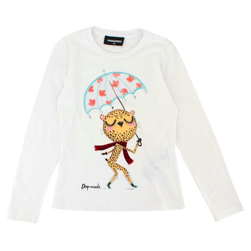 DSquared2 Girls 6 Years Print Long Sleeved Top