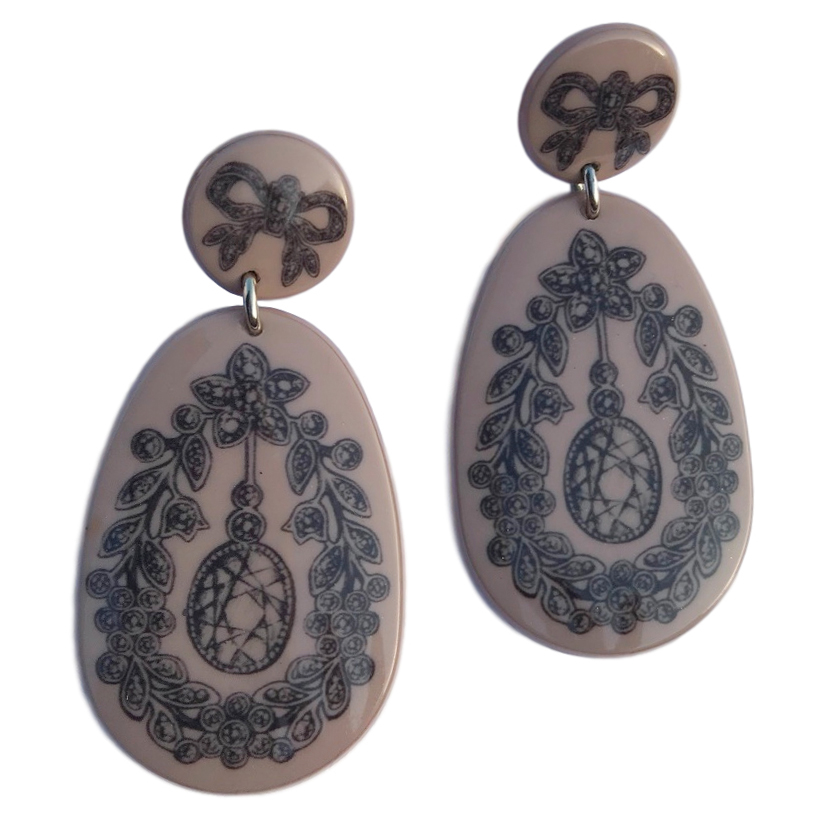 Red Valentino Baroque-effect Drop Earrings