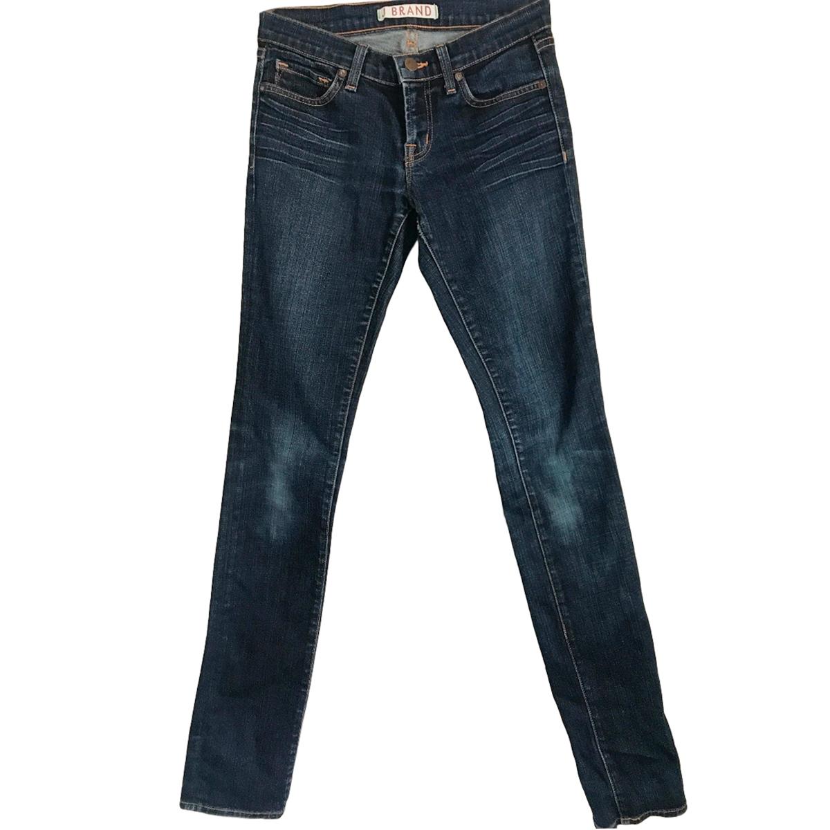 J Brand high waisted ink blue jeans