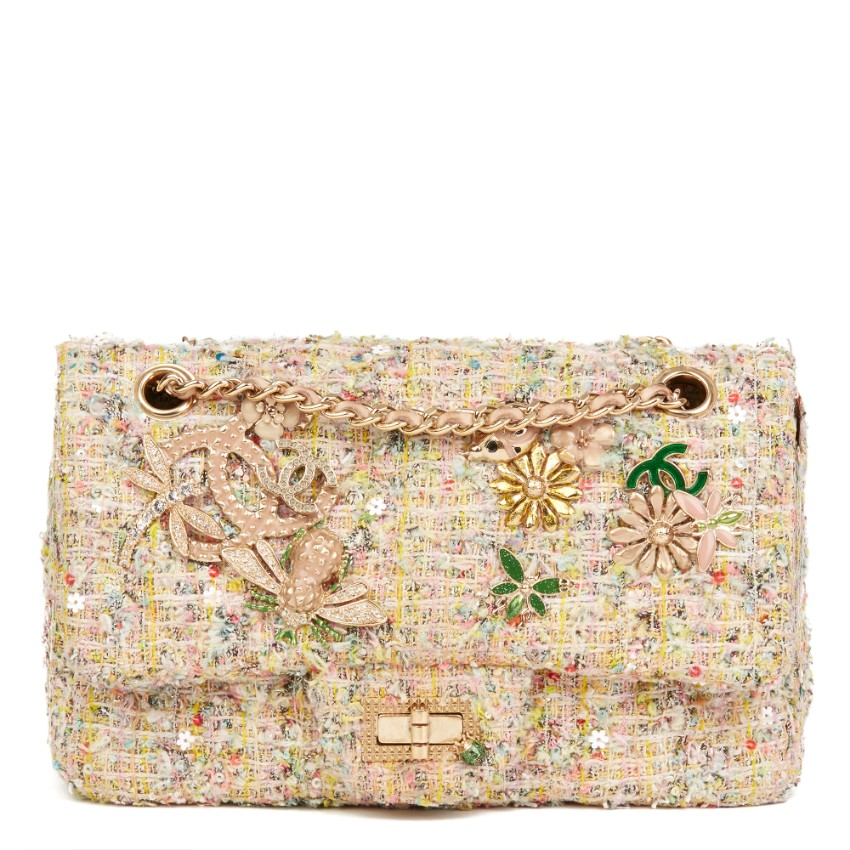 Chanel Tweed Garden Party Reissue Charm Bag