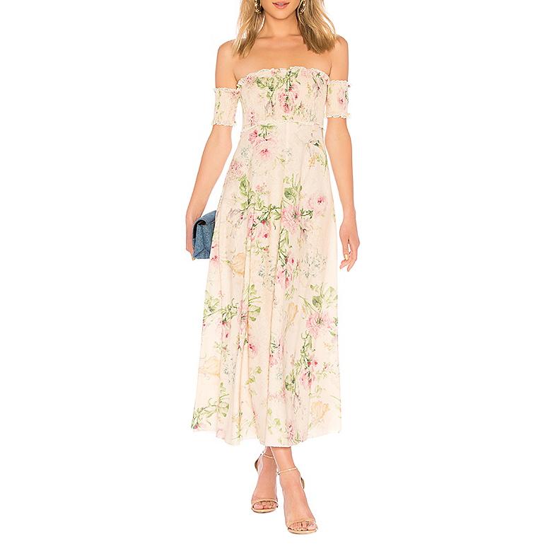 Zimmermann Iris over-the-shoulder dress