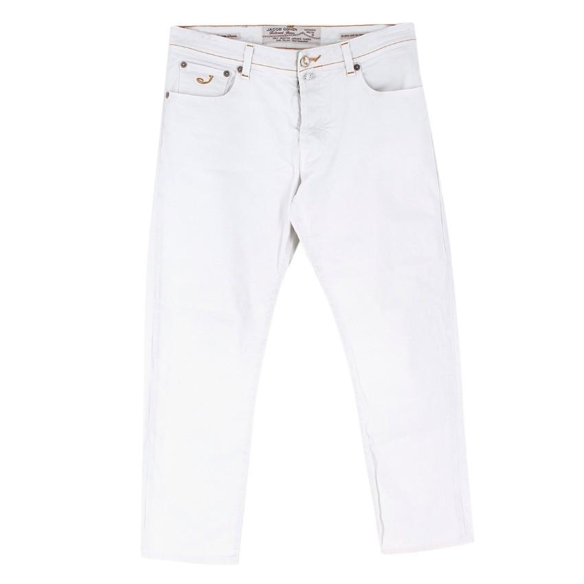 Jacob Cohen White Tailored Denim Jeans