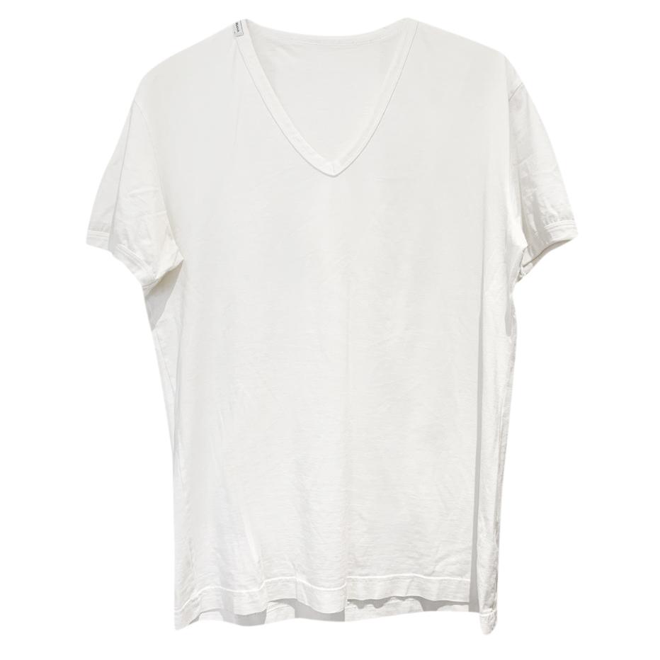 Dolce & Gabbana White V-neck T-shirt