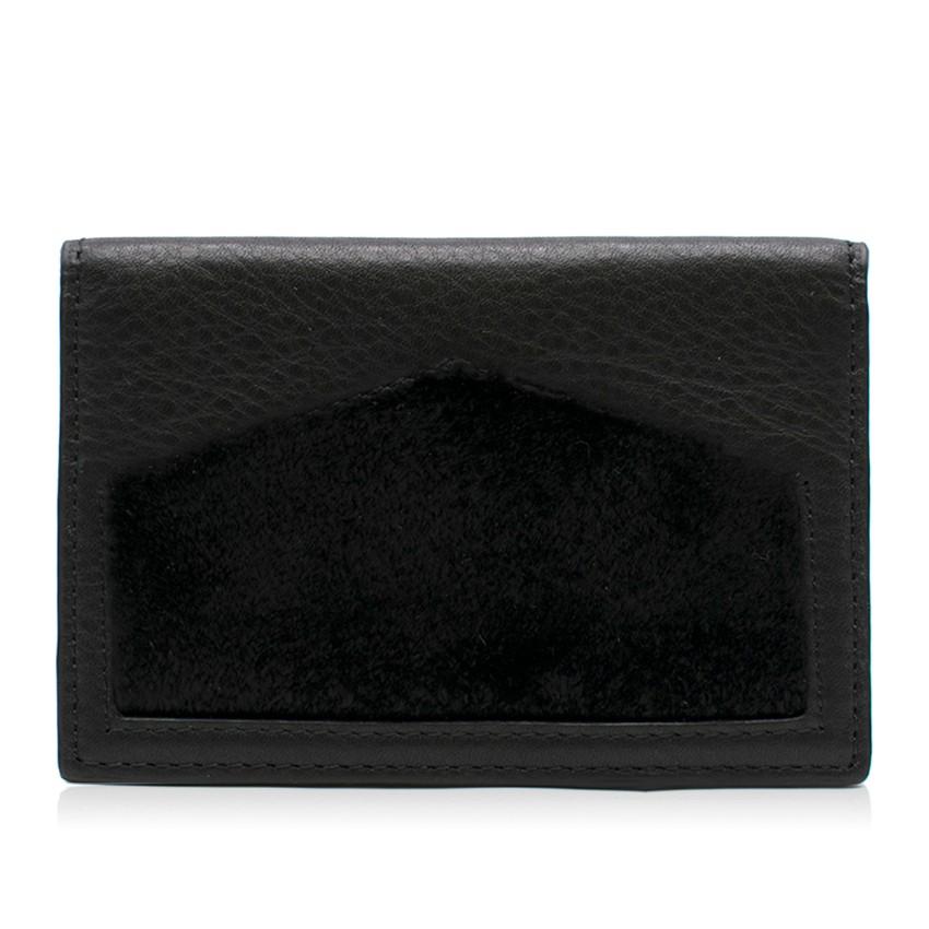 Oh! By Kopenhagen Fur Black Leather Wallet