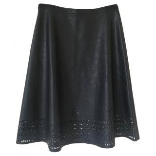 Hugo Boss laser-cut A-line skirt