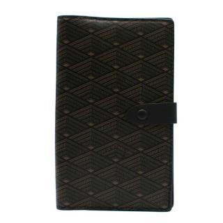 L.O.N.B Black Printed Leather Wallet