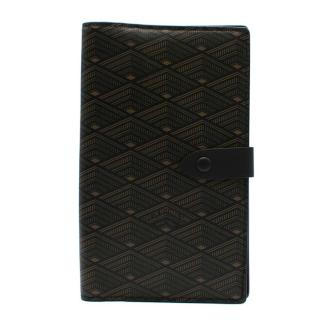 L.O.N.B Black Printed Leather Wallet