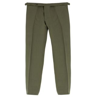 Cerrato Napoli Bespoke Green Tailored Trousers