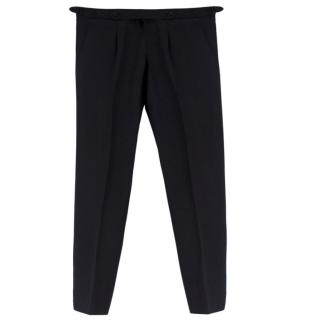 Cerrato Napoli Black Handmade Tailored Trousers
