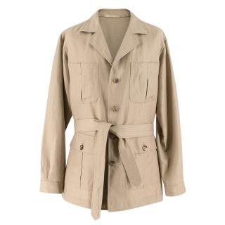 Caruso Beige Extra Fine Camel-hair Jacket
