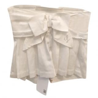 Lapin House Girls Pleated White Shorts