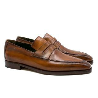 Berluti Brown Leather Loafers