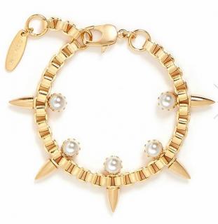 Joomi Lim Gold Tone Love Spike Bracelet