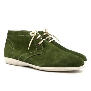 Otisopse Green Suede Desert Boots