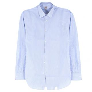 Hardy Amies Blue & White Striped Cotton Shirt