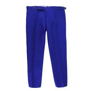 Cerrato Napoli Bespoke Blue Tailored Trousers