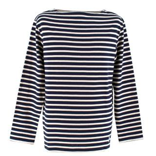 Orcival x Hardy Amies Bespoke Navy and White Striped Sweater
