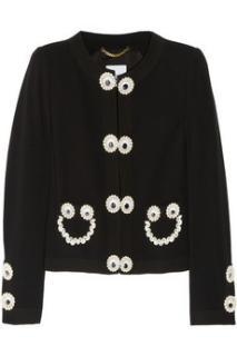 Moschino appliqu�d crepe jacket