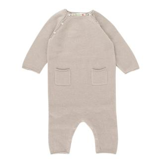 Bonpoint Baby 6M Grey Cashmere Baby Grow