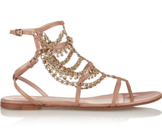 Gianvito Rossi Gitana chain-embellished leather sandals